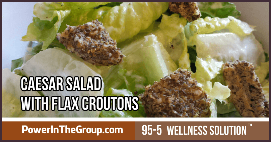 Caesar Salad With Flax Croutons