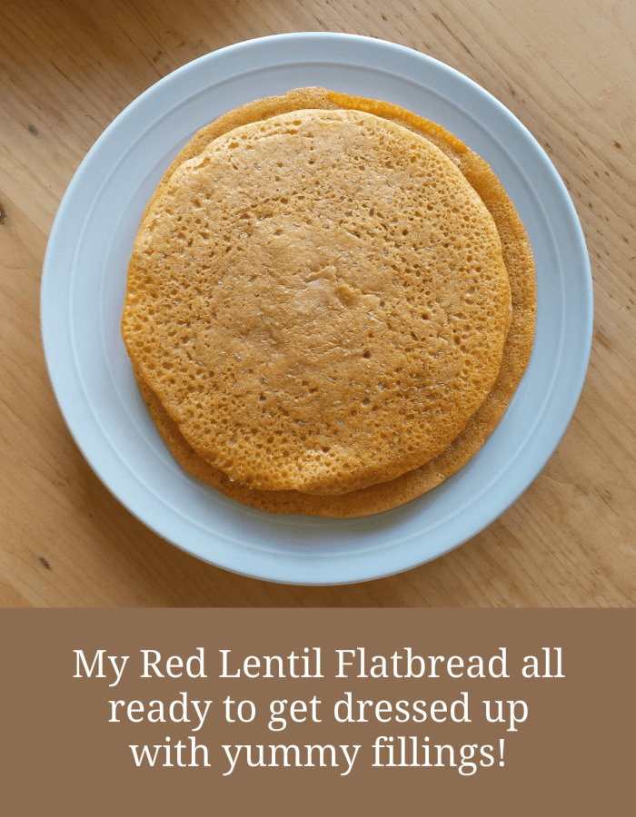 Red Lentil Flatbread on Plate