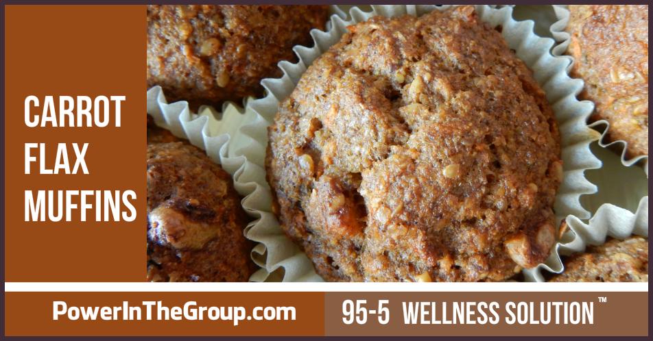 Carrot Flax Muffins Recipe