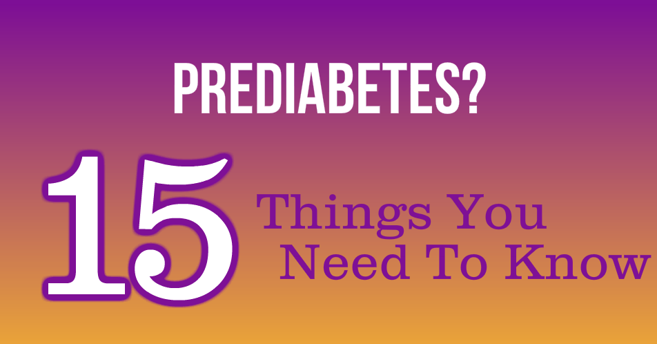 Prediabetes, Now What
