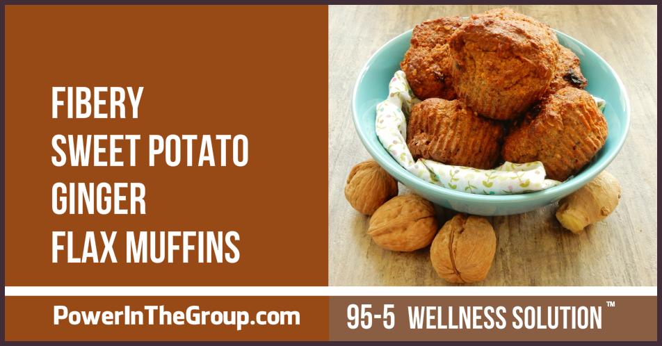 Sweet Potato Ginger Flax Muffins