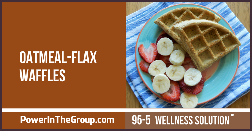Diabetic Friendly Oatmeal Flax Waffles Recipe