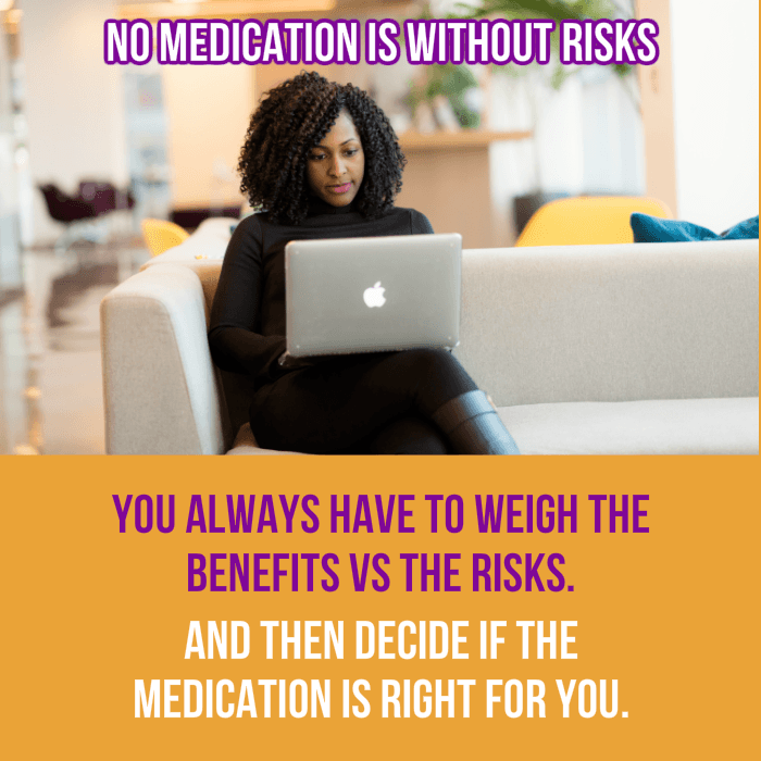 Meds risks benefits