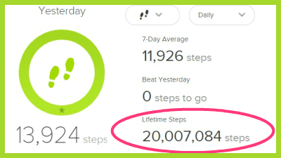 Joan 20 million steps