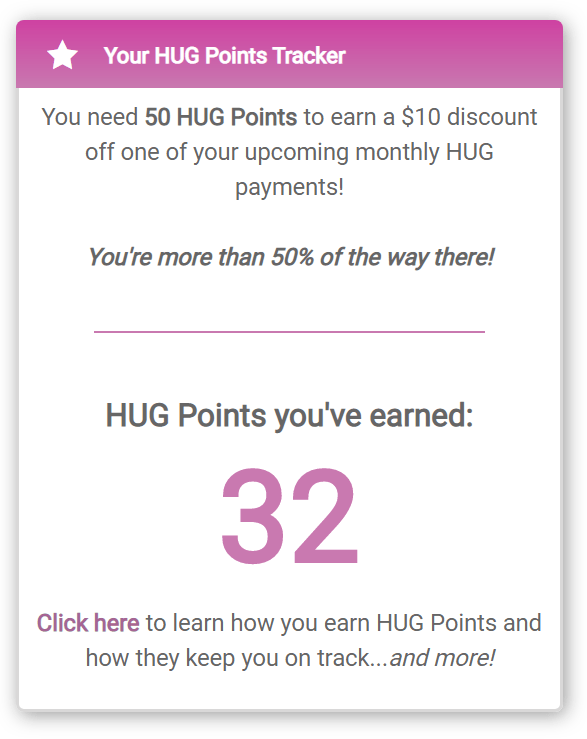 HUG Points Tracker