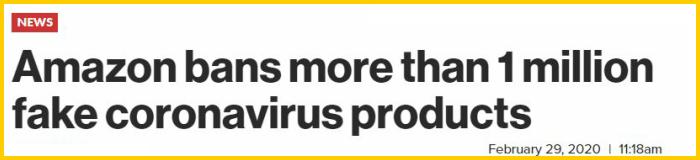 amazon bans fake coronavirus products