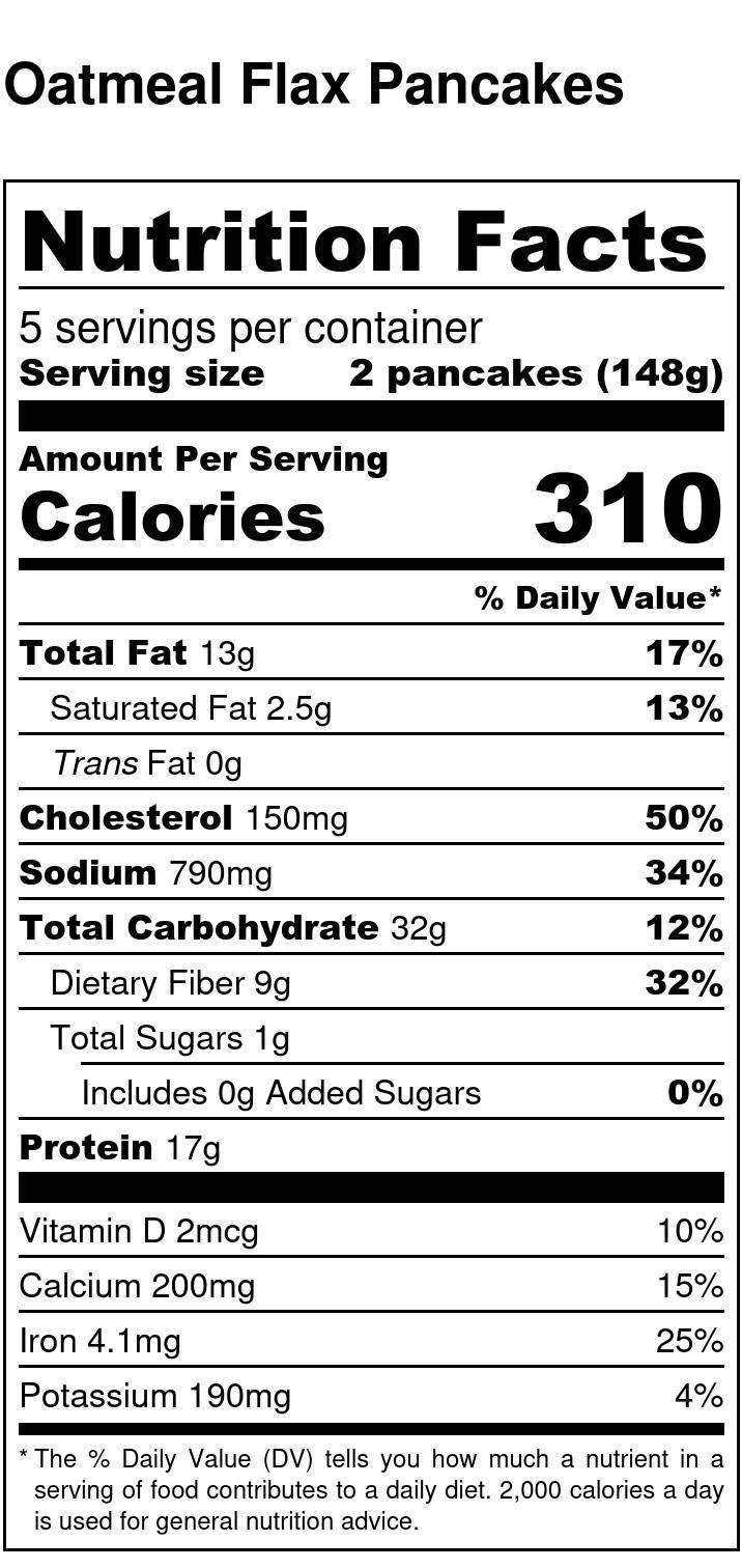 Oatmeal Flax Pancakes High Fiber