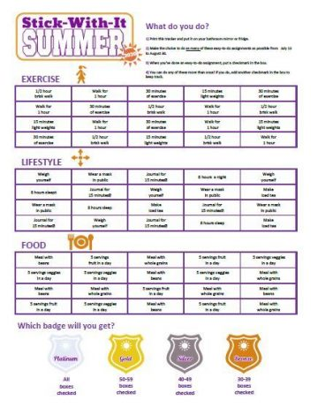Stick-With-It Summer tracker