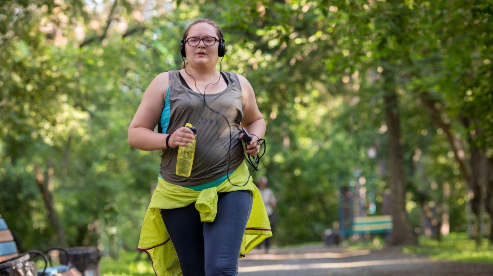 Woman Exercising Summer Sweating